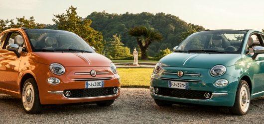 Le due livree esclusive della Fiat 500 Anniversario