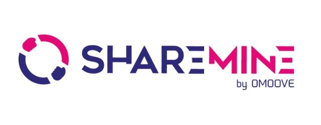 Il logo di Sharemine, la piattaforma online di Omoove per la gestione del car sharing aziendale
