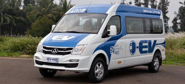 Maxus EV80 appartiene alla categoria dei veicoli commerciali elettrici