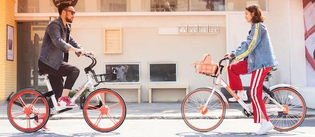 Con Mobike al via anche in Italia il bike sharing a flusso libero