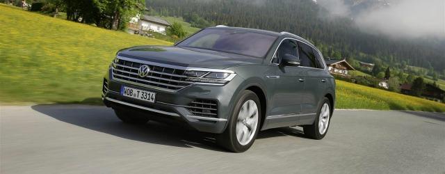 nuova Volkswagen Touareg 2018 su strada