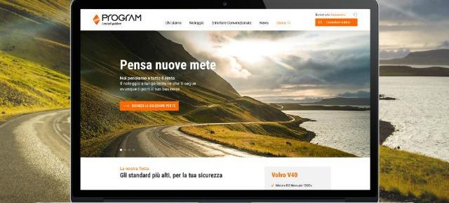 il nuovo sito relativo al servizio di autonoleggio fornito da Program