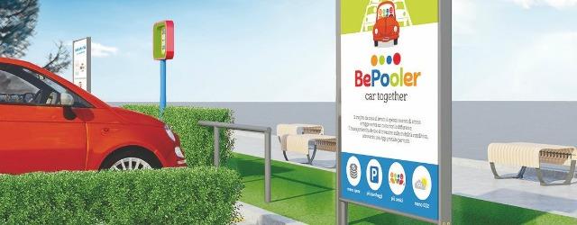 il render della gestione parcheggi per il carpooling gestito da BePooler