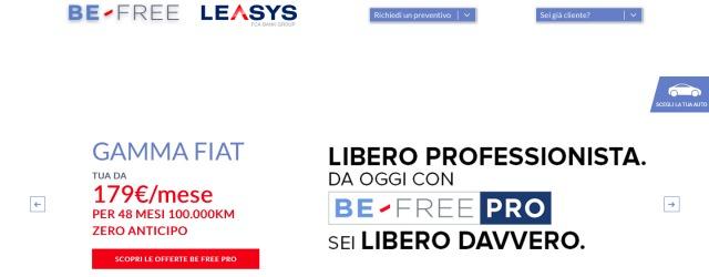 schermata sito - BE-FREE PRO