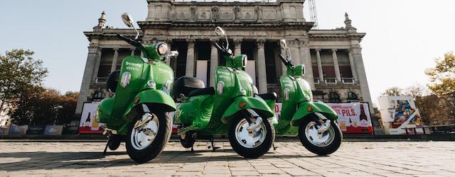 Il servizio di scooter sharing Scooty funziona solo in due città del Belgio