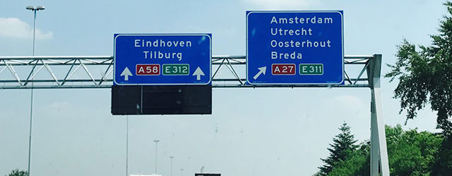 Uscita dell'autostrada di Amsterdam