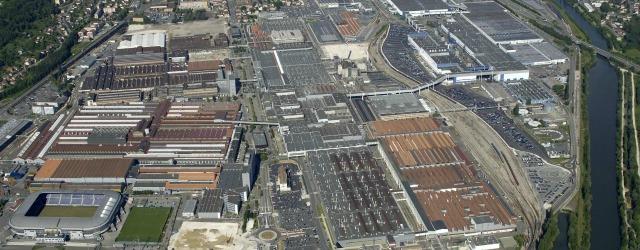 veduta aerea dello stabilimento di Sochaux - Gruppo PSA