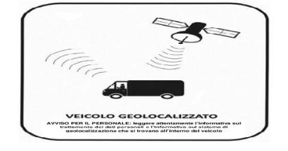 vetrofania applicata a veicolo geolocalizzato