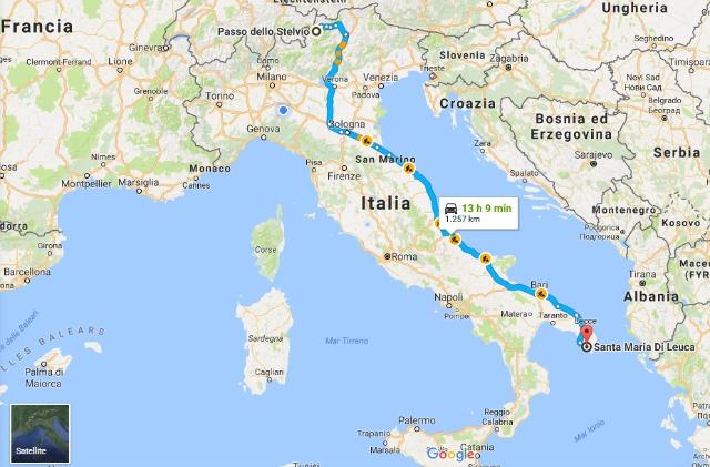 visitare italia Alfa Romeo Stelvio mappa itinerario