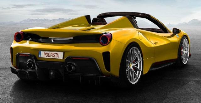 Nuova Ferrari 488 pista spider