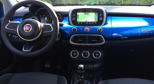 Nuova Fiat 500X 2019 abitacolo
