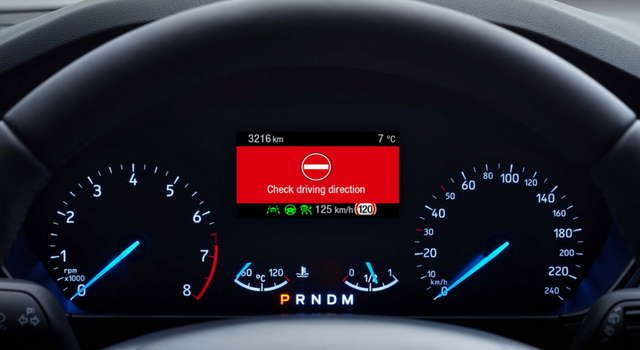 Wrong Way Alert nuova Ford Focus