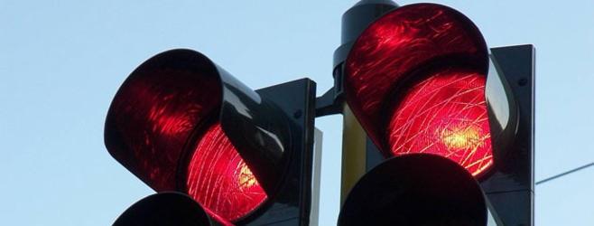 Semaforo rosso stop