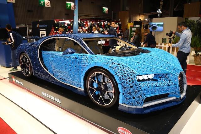 Bugatti Chiron Lego al Salone di Parigi 2018