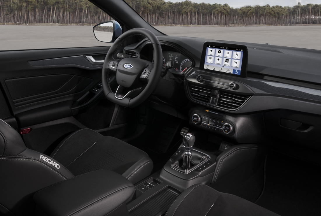 Interni di Ford Focus ST