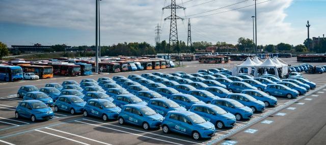 Renault Zoe car sharing elettrico Corrente