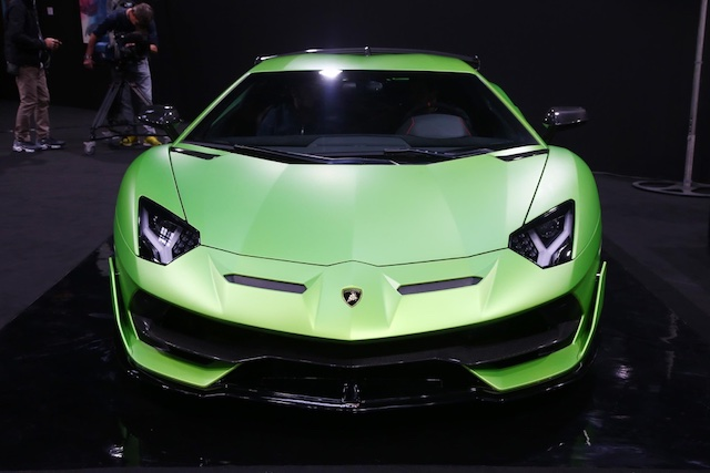 Sistema ALA 2 su Lamborghini Aventador SVJ al Salone di Parigi 2018