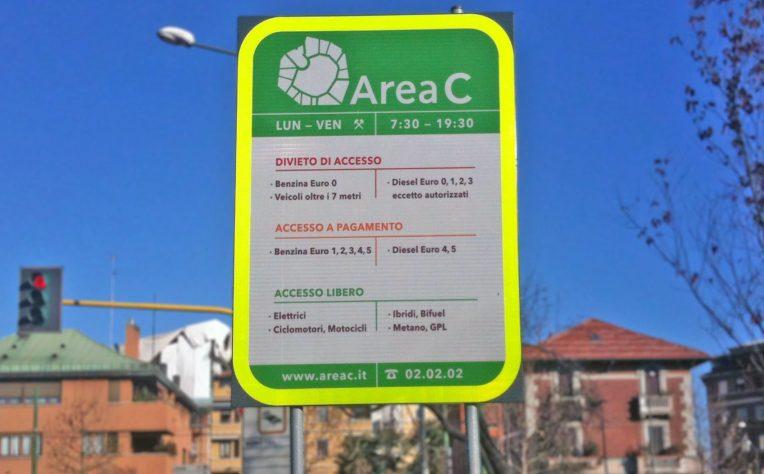 Area C di MIlano, da ottobre 2019 a pagamento anche per le ibride