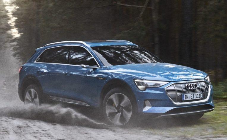 nuova Audi e-tron elettrica con Enel x