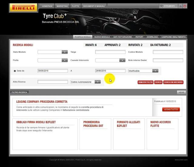 Pirelli lancia il nuovo portale B2Fleet+
