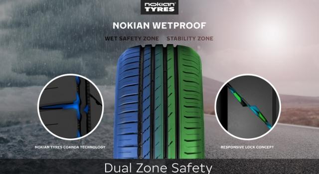 Pneumatici Estivi Nokian Wetproof, Dual Zone Safety