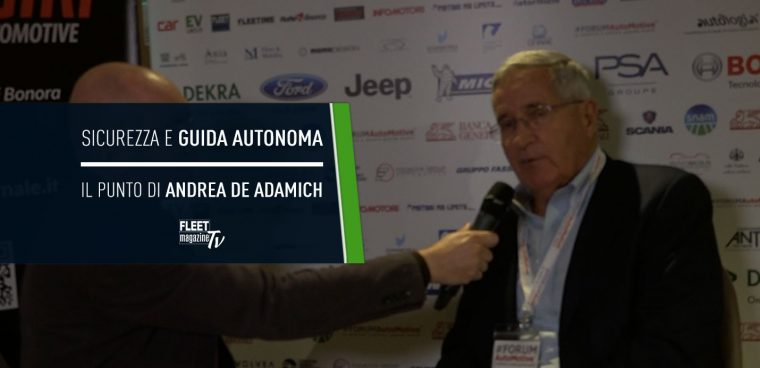 Andrea De Adamich sicurezza guida autonoma