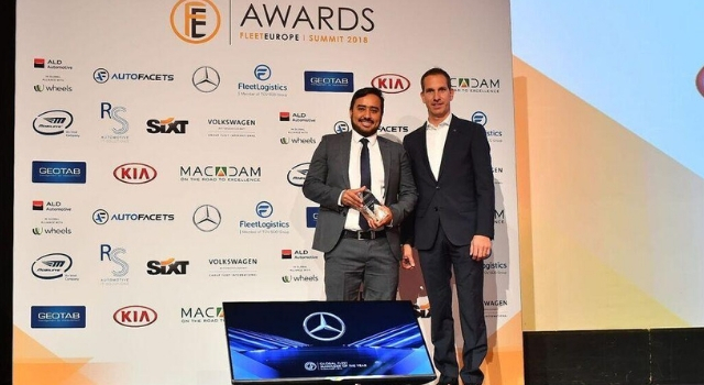 Almy Sousa Magalhaes di philip Morris, premio Global Fleet Manager of the Year al Fleet Europe Summit 2018