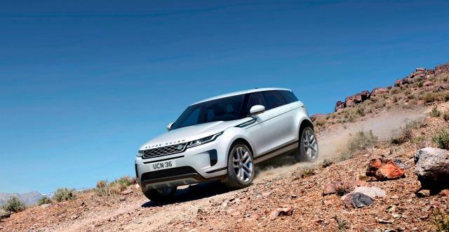 Nuova Land Rover Range Rover Evoque off road auto a trazione integrale