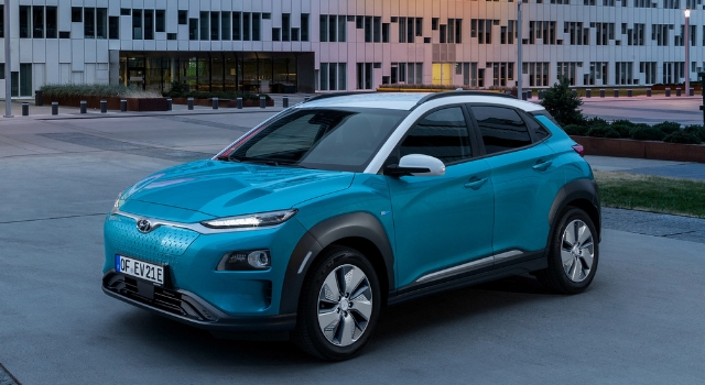 Hyundai Kona Electric, revisione dell'autonomia delle batterie