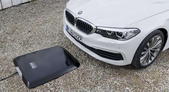 ricarica per l'auto elettrica alternativa: BMW wireless charging