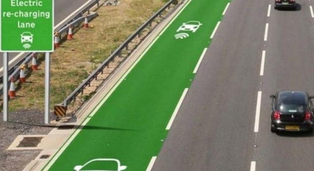 Ricarica auto elettriche wireless installata nella pavimentazione stradale