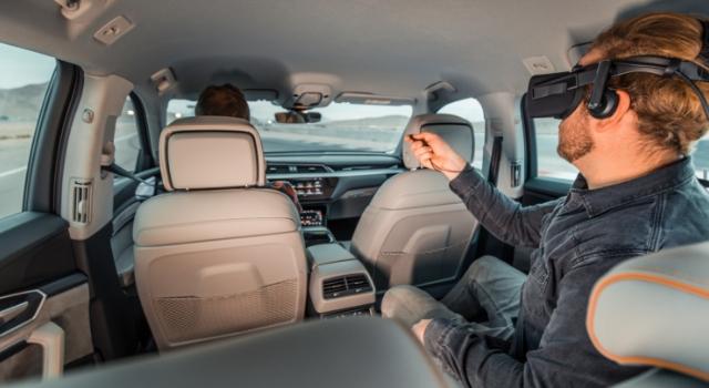 """Audi e-tron al Ces di Las Vegas 2019 con holoride per l'intrattenimento a realtà virtuale """"Marvel's Avengers: Rocket's Rescue Run"""""""
