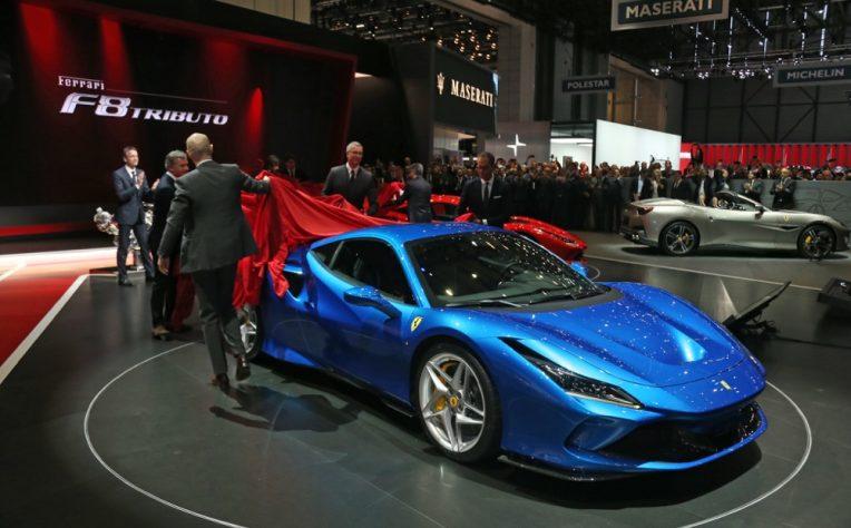 Ferrari F8 Tributo al Salone di Ginevra 2019