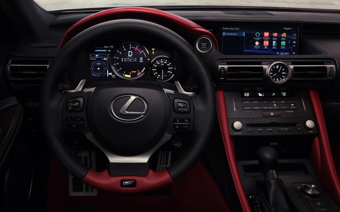 Interni di Lexus RC F 2020