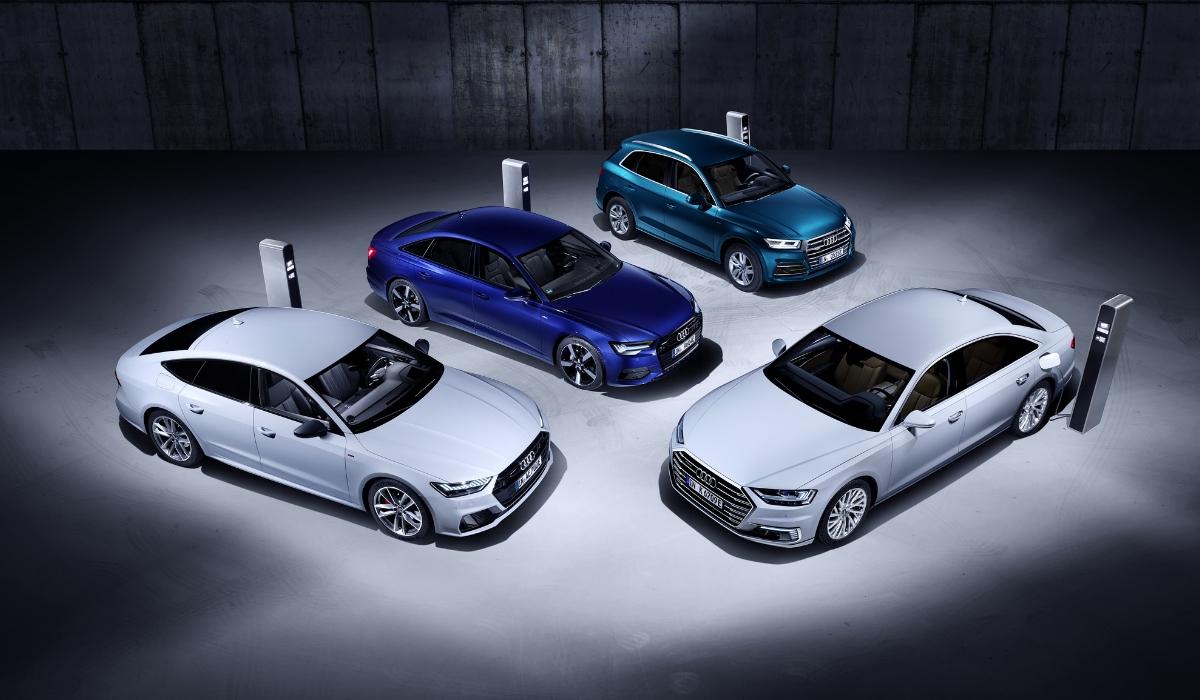 Audi A8, A7 Sportback, A6 e Q5 in versione ibrida plug-in
