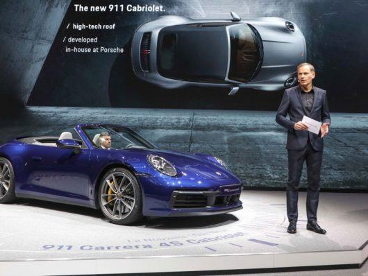 Nuova Porsche 911 cabrio a Ginevra