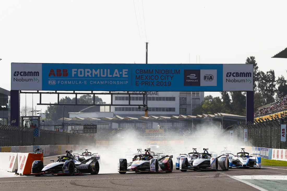 Partenza ePrix Messico