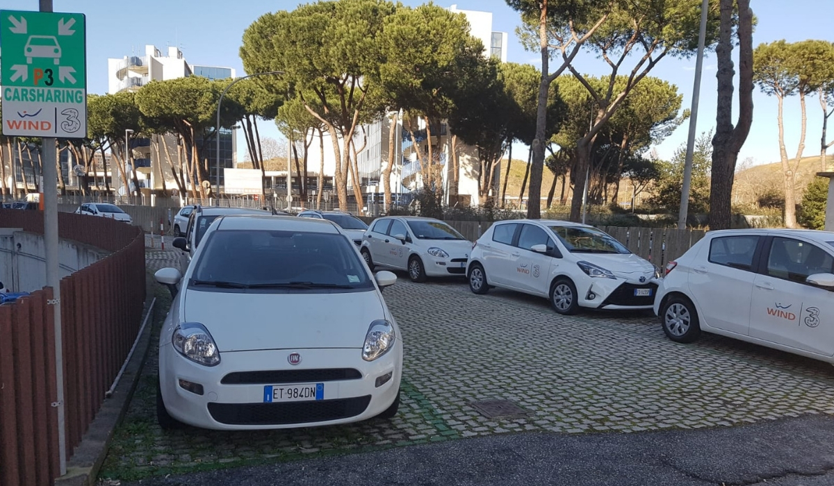 Come funziona il corporate car sharing di Wind Tre