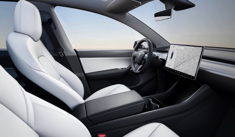 Interni di Tesla Model Y