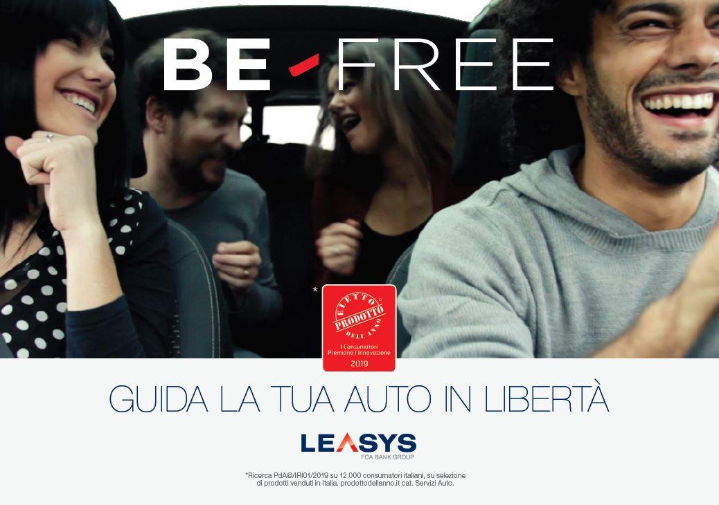 Be Free è stato eletto prodotto dell'anno 2019 per la categoria servizi auto