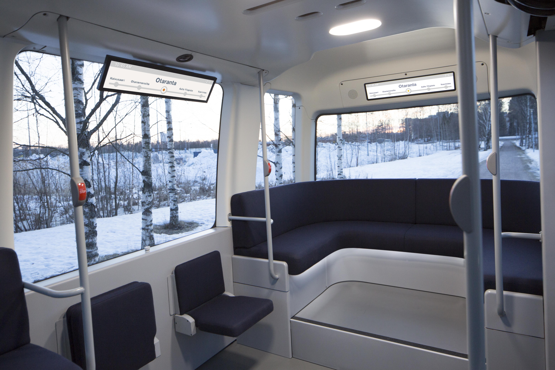 Gli interni di Gacha, il nuovo bus a guida autonoma