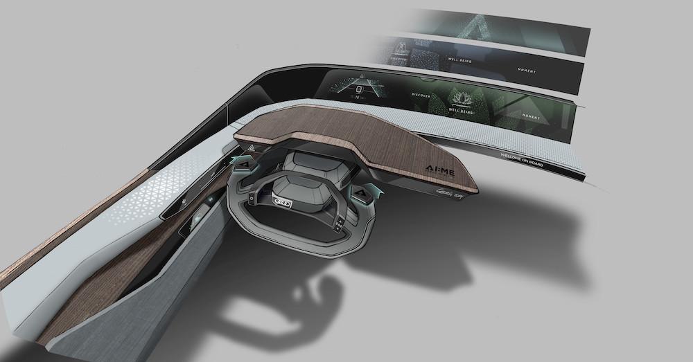 Interni di Audi AI:me concept