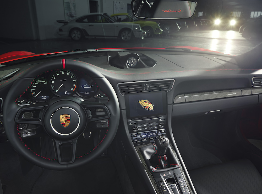 Interni di Porsche 911 Speedster 2019