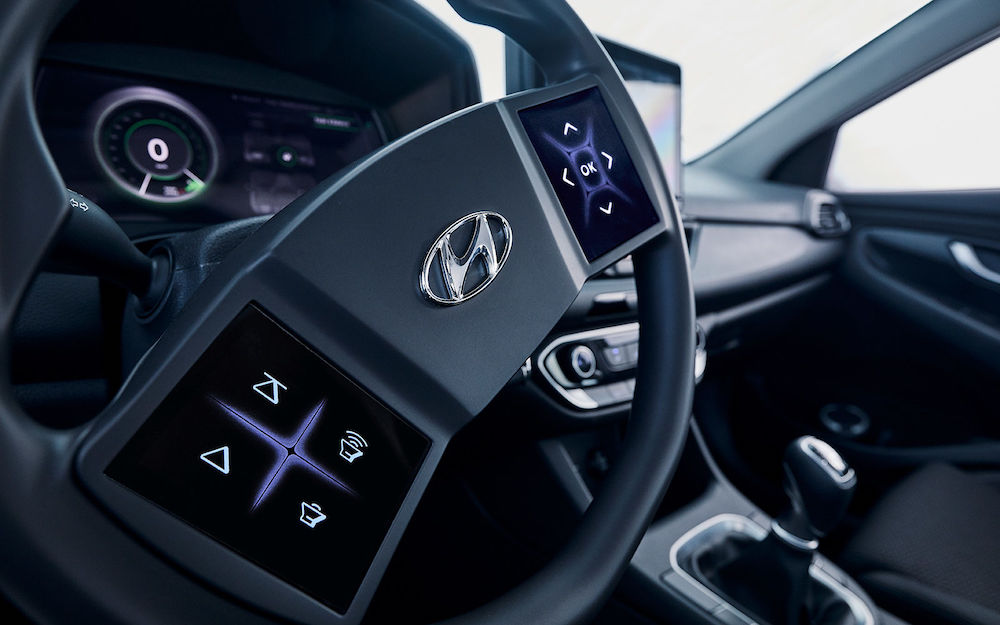 Volante Hyundai con display tattili