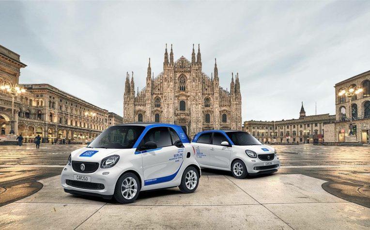 Tutti iservizi di car sharing a Milano