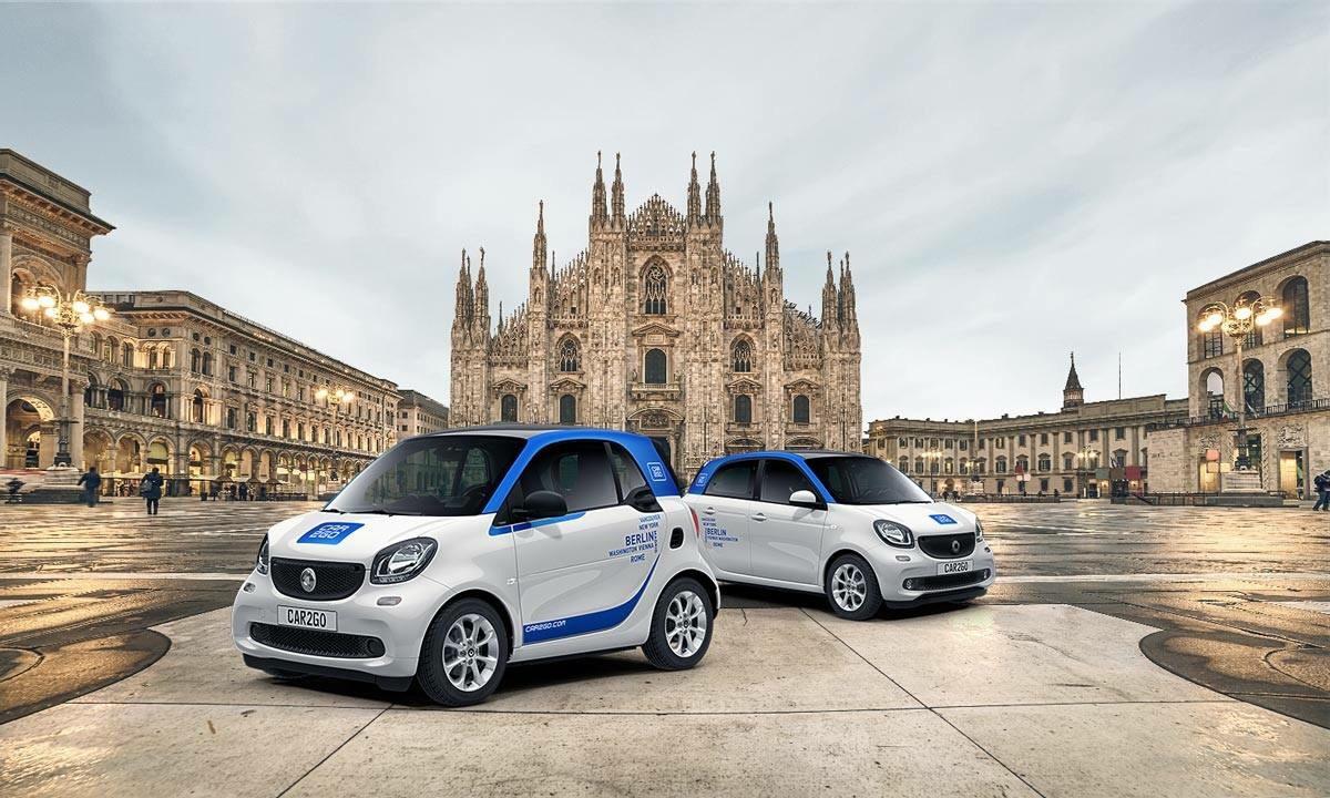 car2go: i servizi di cra sharing a Milano
