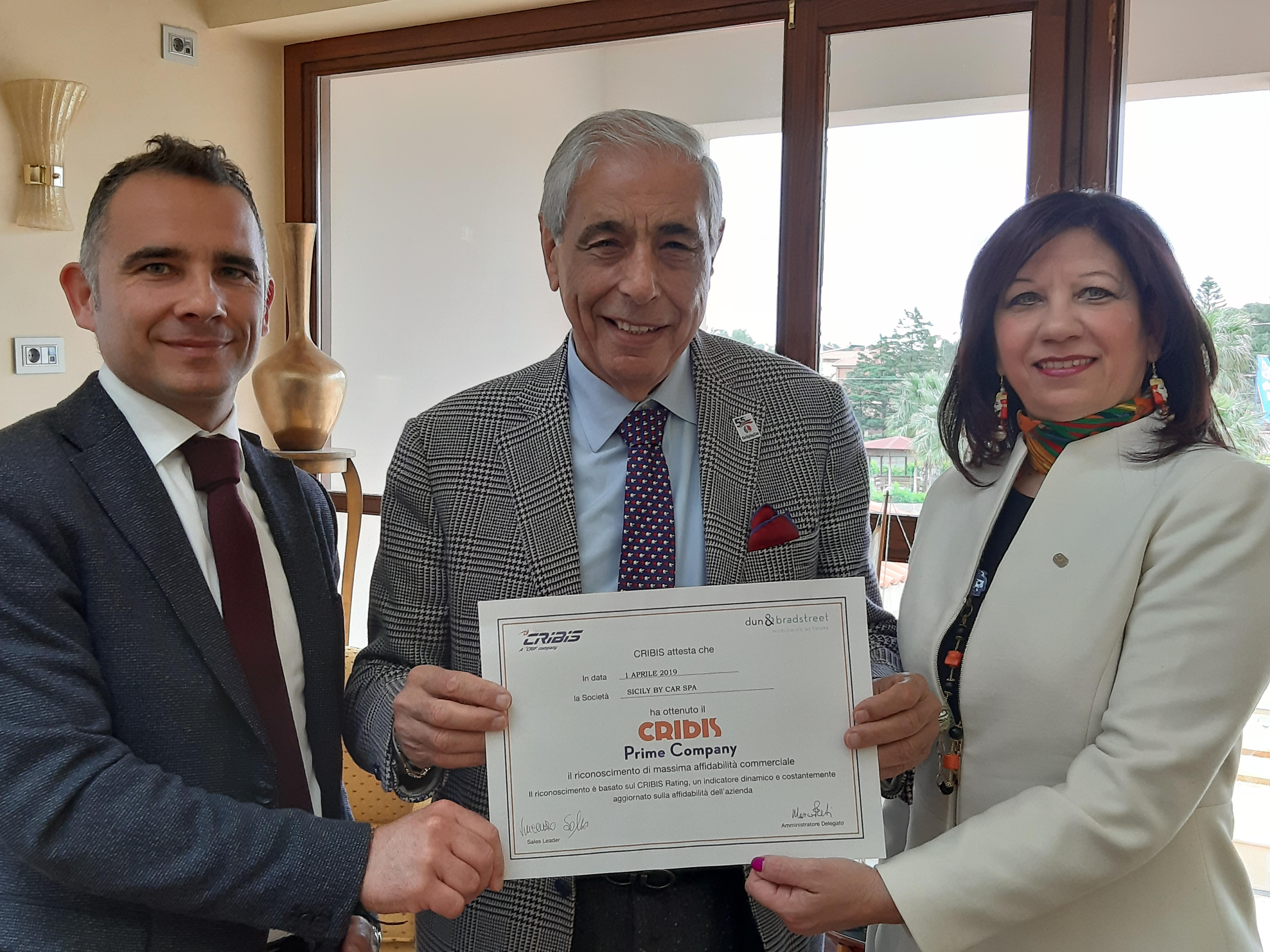 Sicily by Car ha ricevuto il riconoscimento Cribis Prime Company