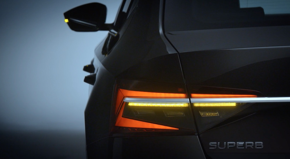 Fari posteriori di Skoda Superb 2020