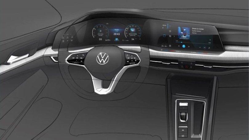 Interni Volkswagen Golf 8
