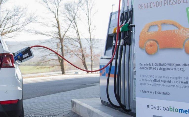 tazione di rifornimento di biometano auto a Rapolano